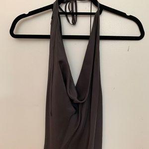Silk halter top